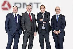 Die Geschäftsführung der DMT Gruppe ab dem 01.01.2018: Jens-Peter Lux, Dr. Maik Tiedemann, Prof. Dr. Eiko Räkers und Ulrich Pröpper (v.l.n.r.)  (Bild: DMT-Gruppe)