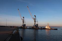 Start des Seetransports der neuen Hafenkrane für EPAS (Bild: EPAS / Seaports)