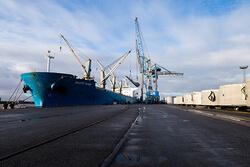 """EPAS empfängt Mehrzweckschiff """"Orange River"""" am Nordkai in Emden (Bild: EPAS)"""