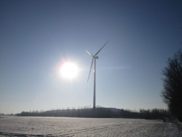 Neue Vestas-Anlage in Voßberg (Bild: Notus)
