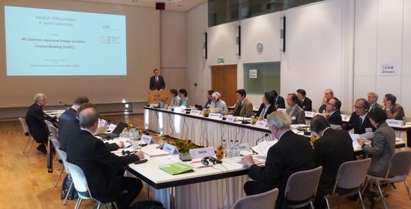Die vierte Ratssitzung des GJETC fand am 14. und 15. Februar im Japanisch-Deutschen Zentrum in Berlin statt. (Bild: GJETC)