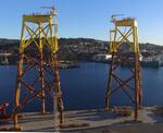 Weltgrößter Offshore-Windpark: Erste Jackets fertig gestellt