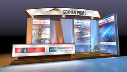 """Seaports of Niedersachsen präsentieren sich erneut auf bedeutendster Logistikmesse Brasiliens Die niedersächsischen Seehäfen präsentieren sich erneut mit den bremischen Häfen unter der Dachmarke """"German Ports"""" auf der Intermodal South America in Sao Paulo"""