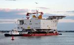 Offshore-Umspannwerk Arkona auf dem Weg in die Ostsee