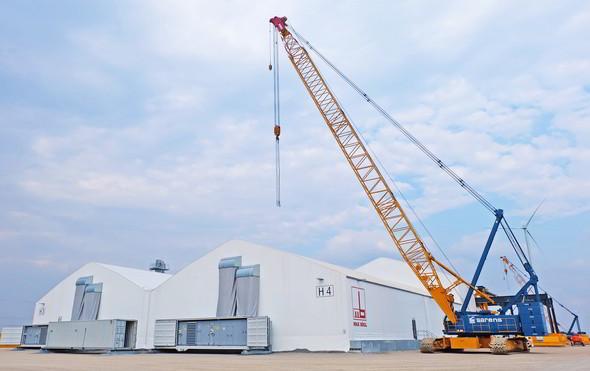 So sieht die mobile Fabrik von Max Bögl aus. (Bild: Max Bögl Wind AG)