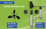PRO-WEA Wind Sensor Line · Ultra robust and storm resistant