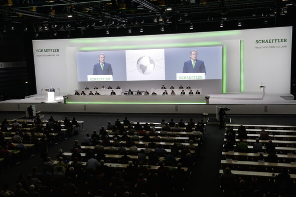 Annual General Meeting of Schaeffler AG 2018 in Nuremberg's Frankenhalle. (Image: Schaeffler)