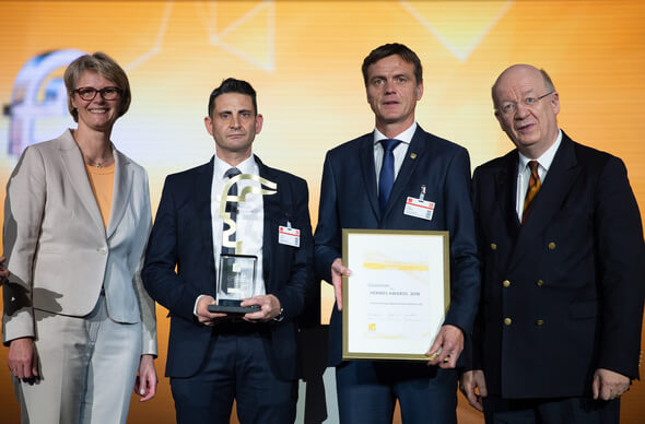 Endress+Hauser Messtechnik GmbH + Co. KG gewinnt den HERMES AWARD (Bild: Deutsche Messe)