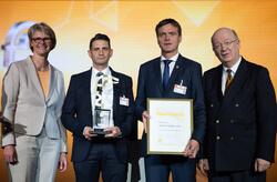 The winner of this year's HERMES AWARD is Endress+Hauser Messtechnik GmbH + Co. KG (Image: Deutsche Messe)
