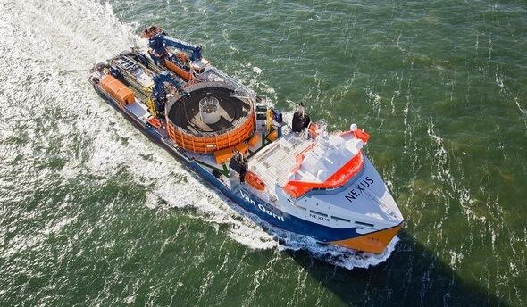 Installationsschiff Nexus (Bild: Van Oord)