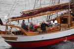 Deutsche Windtechnik empfängt Polarforscher Arved Fuchs und Crew im Offshore Windpark Butendiek