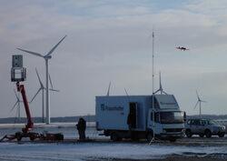 PARASAOL erkennt Flugzeuge in der Nähe eines Windparks und ermöglicht es, die Warnlichter nur bei Bedarf einzuschalten (Bild: Fraunhofer FHR)