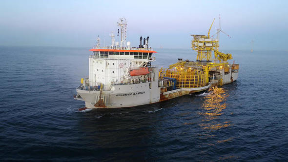 Successful installation of three HVAC export cables in German waters (Image: Jan De Nul Group)