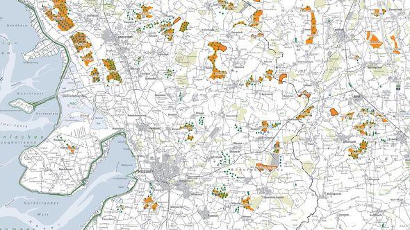 Die vorläufige Kulisse von Vorranggebieten gibt den derzeitigen Planungsstand wieder (Bild: Land S-H)