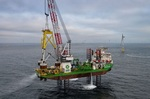 Letztes Suction Bucket Jacket-Fundament im Offshore-Windpark Borkum Riffgrund 2 installiert