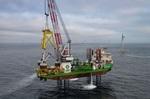Letztes Suction Bucket Jacket-Fundament im Offshore-Windpark Borkum Riffgrund 2 installiert