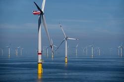 Windkraftanlagen im Windpark Borkum Riffgrund 2 (Bild: Ørsted/Matthias Ibeler)