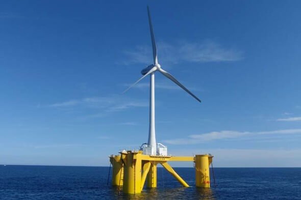The 2 MW floater delivers better than expected (Photo: Fukushima Offshore Wind Consortium)