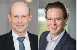 Links Andreas Höllinger, rechts Dr. Karsten Schlageter (Bild: ABO Wind)