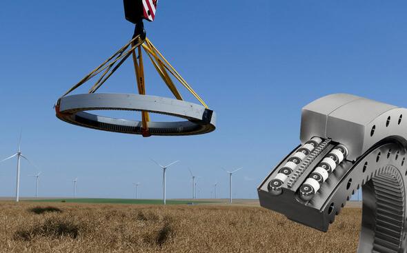 Ein T-Solid Blattlager auf dem Weg ein Vierpunktlager zu ersetzen (Bild: IMO