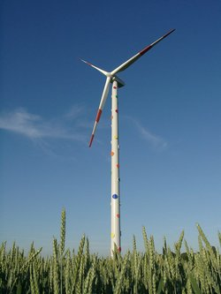 "Wind farm ""Kunst und Wind"" (Image: Windpark Kunst und Wind)"