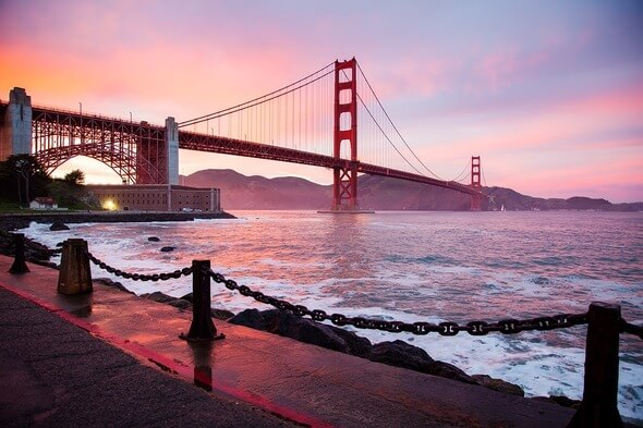 Golden Gate Bridge, one of the most famous sites in California (Image: Pixabay)