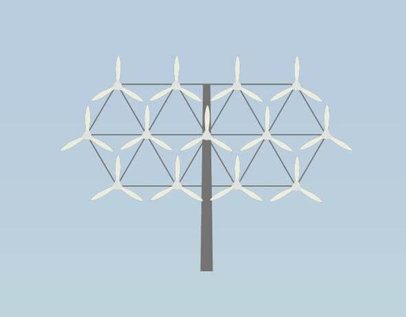 Forschungsprojekt: Ansicht eines Multirotors (Bild: CC4E/HAW Hamburg)