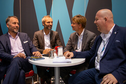 The contract with Saxovent was signed at the WindEnergy in Hamburg. From left: Boy Kliemann , Matthias Brandt (Deutsche Windtechnik), Carsten Paatsch (Saxovent), Steffen Schroth (windpunx).  The contract with Saxovent was signed at the WindEnergy in Hambu