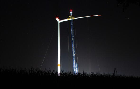 Baustelle des Repowering-Projekts Wennerstorf in Niedersachsen (Bild: ABO Wind)
