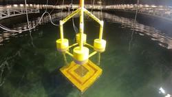 Beginn des Lowering Tests (Absenken des Schwergewichtsankers) im Glattwasser  (Bild: GICON)