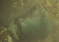 Underwater photo of the bell taken by a remotely-operated vehicle (Image courtesy of Nsea on behalf of Galloper Offshore Wind Farm)