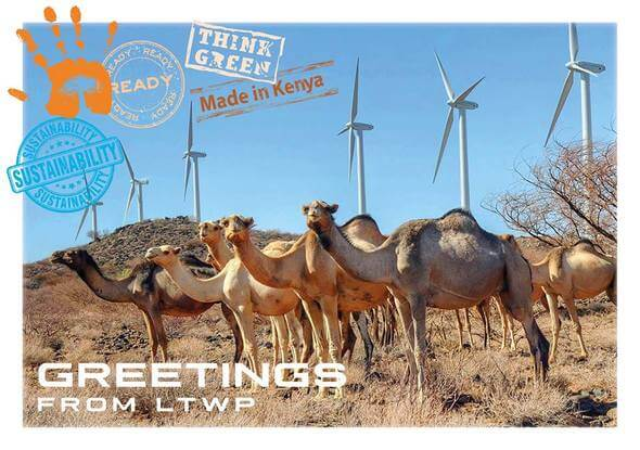 Greetings from Africa (Image: Lake Turkana Wind Power)