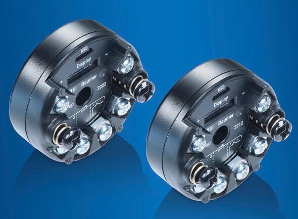 Die neue Generation Universal-Thermotransmitter FlexTop 2212 und 2222 ist leicht zu bedienen, flexibel im Einsatz und überzeugt auch bei anspruchsvollen Applikationen (Baumer)