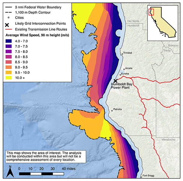 The feasibility analysis will cover selected areas in this region (Image: SERC)