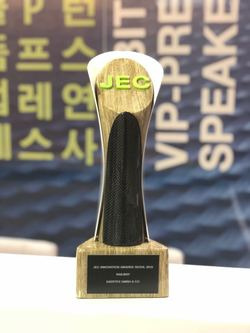 On November 15th, SAERTEX® was awarded with the JEC ASIA Innovation Award in the Railways category at the JEC ASIA trade fair in Seoul, Korea (Image:SAERTEX)