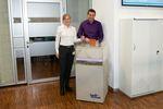 Radonfachperson Karin Leicht zu Besuch bei Hauff-Technik