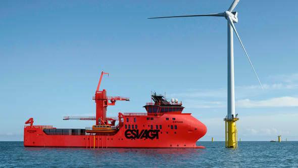 The vessel destined for Moray East will be a SOV in Havyard's 831L design (Image: ESVAGT)