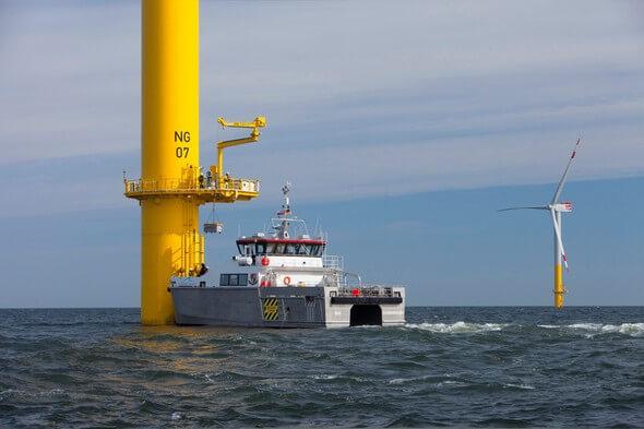 Ausfahrt zu einem Offshore-Serviceeinsatz (Bild: Jens Meier)