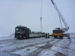 Baustart an juwis tausendstem Windrad: Im ostthüringischen Mohlis werden derzeit die Fundamente für das Jubiliäumswindrad gegossen (Bild: juwi)
