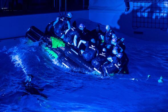 Beim Team-Training sitzen alle Mann in einem Boot (Foto: Benjamin Nolte)