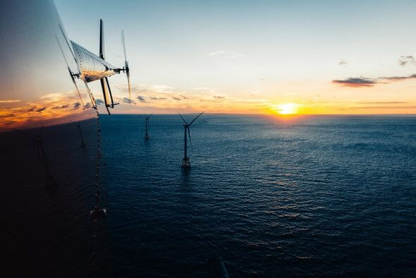 Off the coast of Rhode Island, Block Island Wind Farm is the first commercial offshore wind farm in the U.S. GE boasts more than 35,000 turbines installed worldwide, representing over 60 gigawatts of capacity (Image: Chris New for GE Reports)