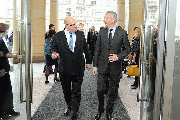 Bundeswirtschaftsminister Peter Altmaier (links) und sein französischer Amtskollege Bruno Le Maire (rechts) (Bild: BMWi / Susanne Eriksson)
