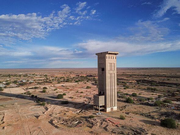 In rund 20 Kilometer Entfernung zum Bergwerk könnte das 35 Megawatt starke Hybridprojekt entstehen (Bildquelle: Orion Minerals)