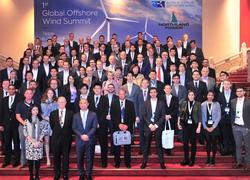 Group picture at WFO's 1st Global Offshore Wind Summit in Taipei (Image: WFO=