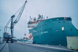 "epas empfängt Offshore Service Schiff ""ACTA AURIGA"" (Bild: epas)"
