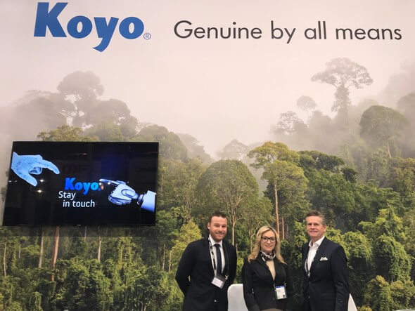 Mrs. Sadzida Smajlovic, General Manager of Kugellager-Premium GmbH visited the Koyo team at the Hannover Messe 2019 (Image: Koyo)
