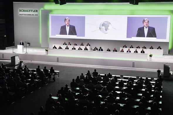 The 2019 annual general meeting of Schaeffler AG in Nuremberg's Frankenhalle. (Images: Schaeffler AG)