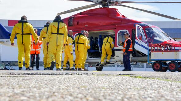Boarding Den Helder Airport (Image: PressOffshore PR & Content)