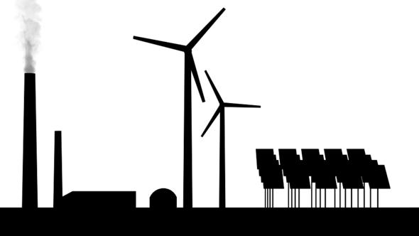 Die Anteile an fossiler und erneuerbarer Energie am Strommix verschieben sich (Bild: Pixabay)