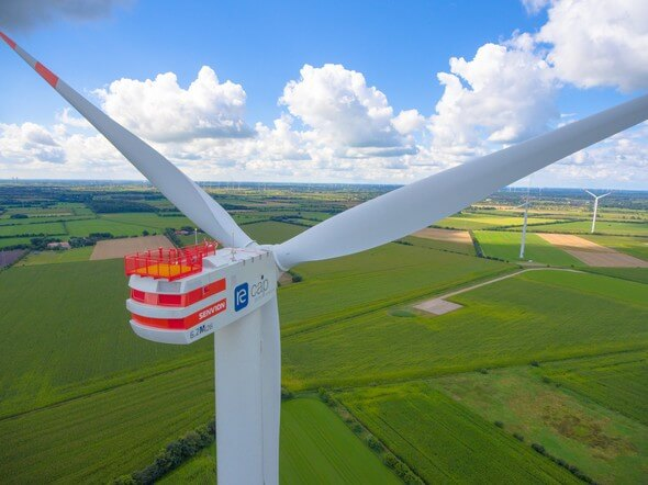 Deutsche Windtechnik is providing service for Senvion 6.2M turbines at the Handewitt wind farm (Image: re:cap global investors ag)